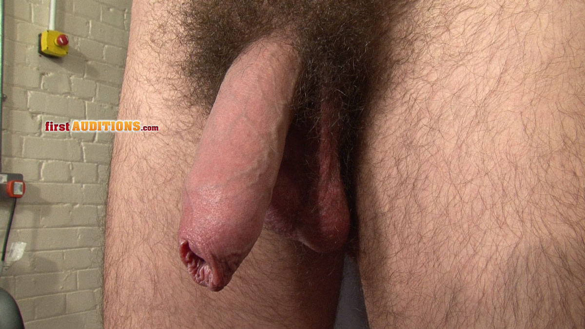 Big Uncut Cock Jack Off FirstAuditions Lukas 07 Huge Hairy Uncut Cock With Foreskin Jacks Off and Busts a Hot Load of Cum
