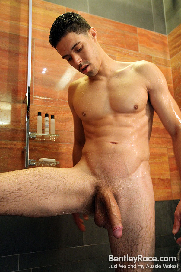 Big-Uncut-Cock-Rich-Santana-Bentley-Race-RichSantana56 Huge Uncut Amateur Latino Shows His Massive Uncut Cock