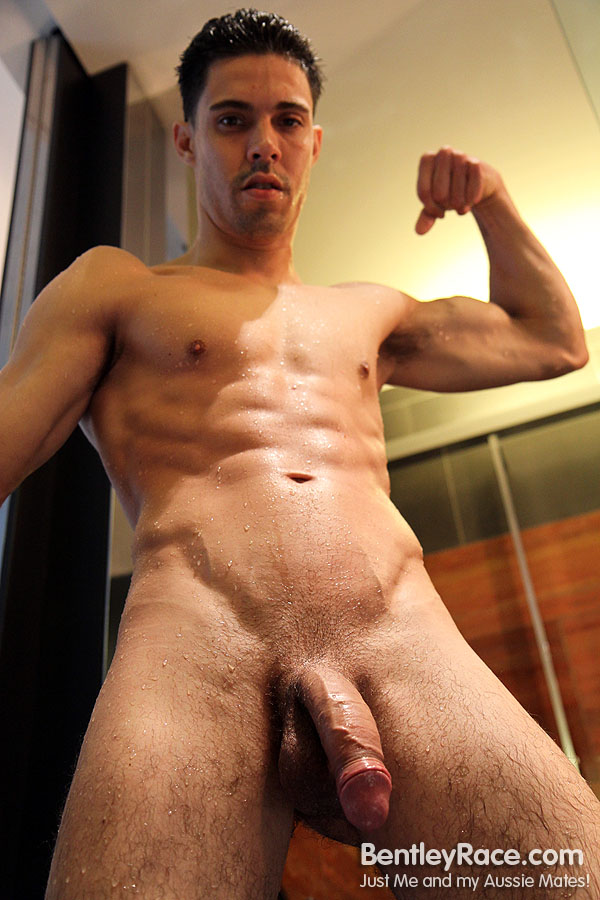 Big-Uncut-Cock-Rich-Santana-Bentley-Race-RichSantana83 Huge Uncut Amateur Latino Shows His Massive Uncut Cock