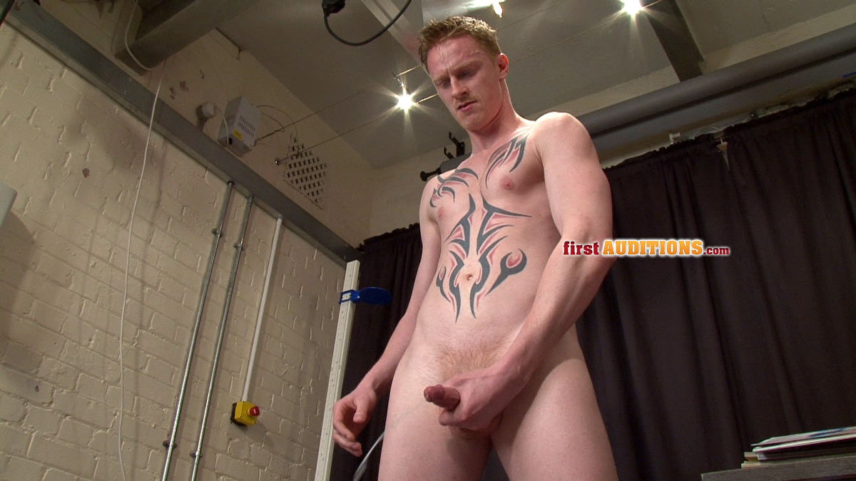 First Auditions Dan Straight uncut cock jackoff 0121 Straight Amateur Redhead Jacks His Uncut Cock