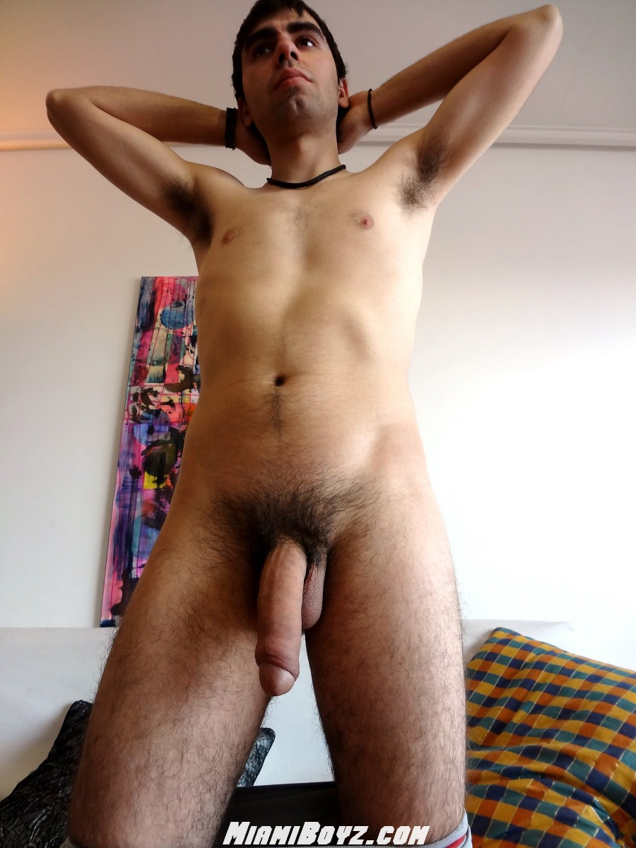 MiamiBoyz-Alan-Huge-Uncut-Cock-24 Huge Amateur Argentinian Cock Shoots a Massive Load of Cum