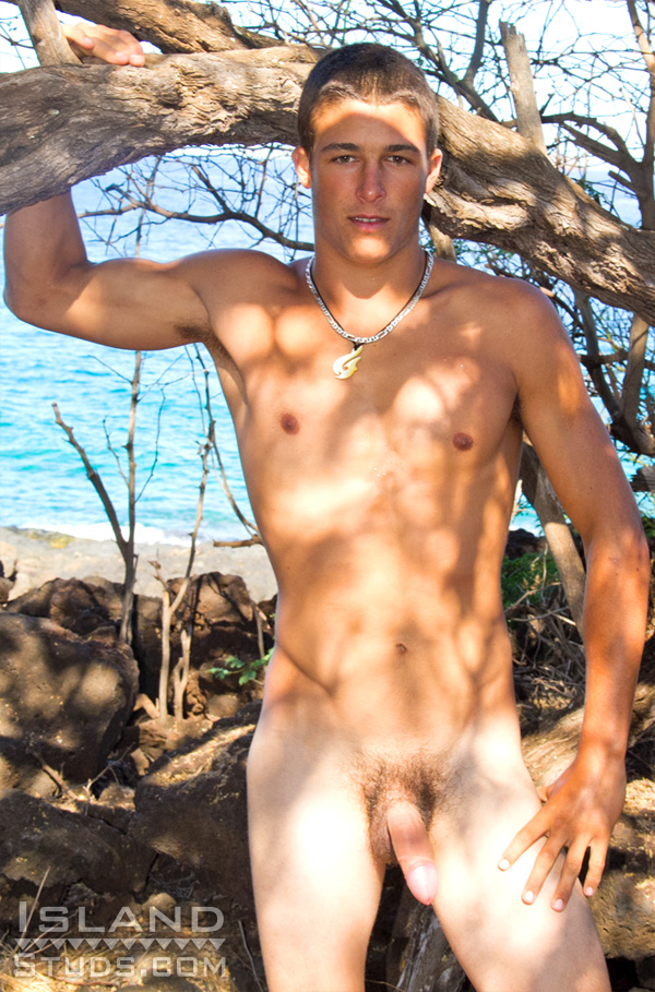 Island-Studs-Luke-Naked-Uncut-Surfer-Gay-12 Uncut Amateur Straight Surfer Shows Off His Big Uncut Cock