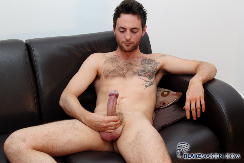 Blake-Mason-Riley-Tess-Uncut-Cock-Jack-Off-05 Amateur Hung Uncut British Stud Jacks Off and Eats His Cum