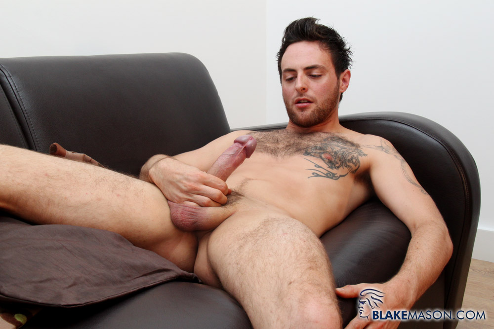Blake-Mason-Riley-Tess-Uncut-Cock-Jack-Off-17 Amateur Hung Uncut British Stud Jacks Off and Eats His Cum