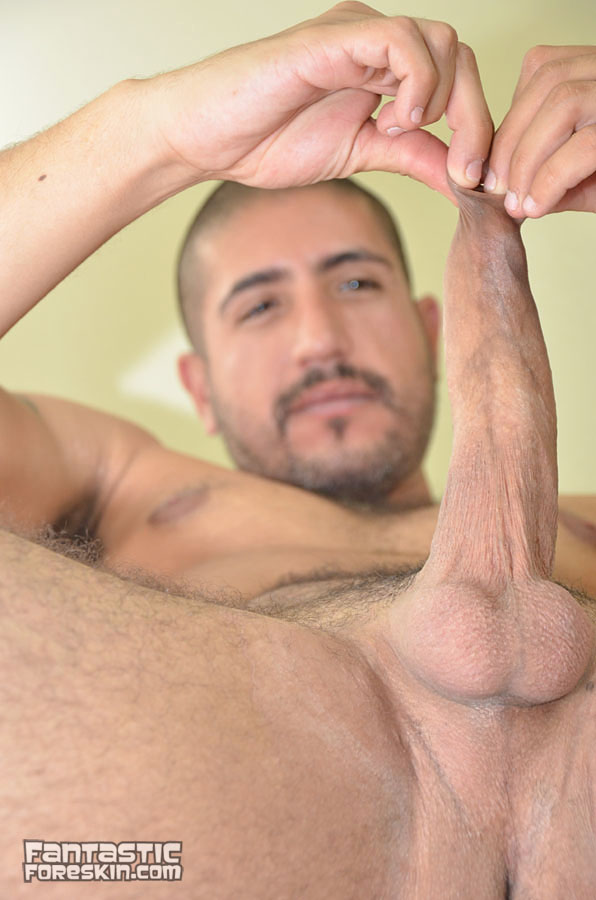 Fantastic-Foreskin-Sebastion-Rio-uncut-cock-video-14 Amateur Latino with a Huge Uncut Cock Gets a Foreskin Exam