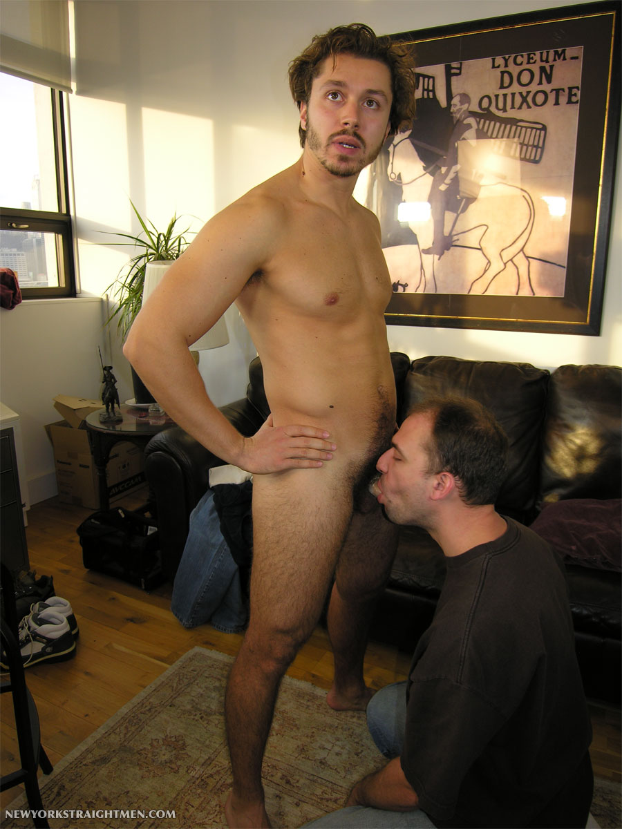 NewYorkStraightMen-Niko-Greek-Uncut-Cock-08 Straight Hairy Uncut Greek Waiter Gets His First Blowjob From A Guy