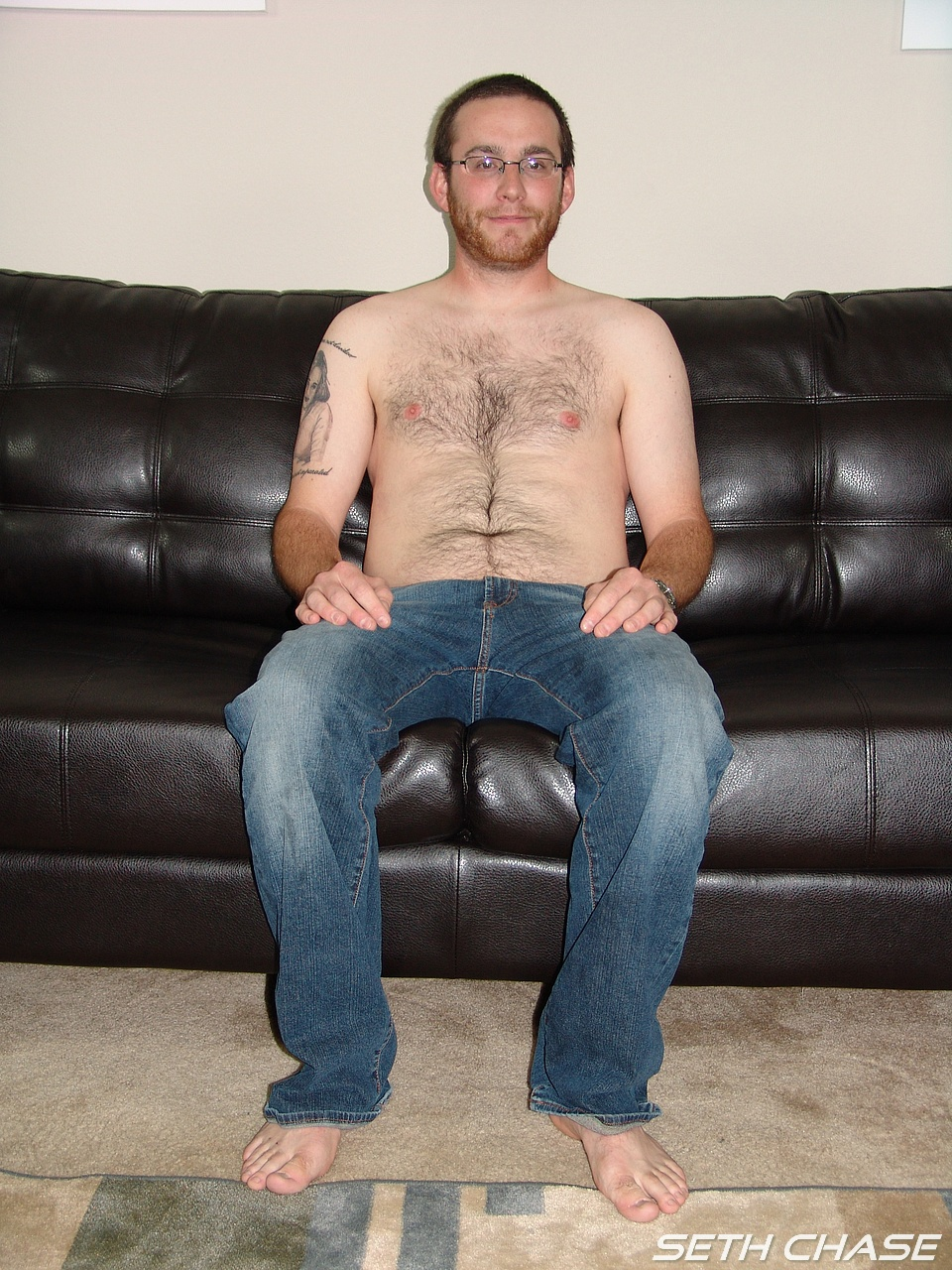 Seth-Chase-Eric-Stowe-Uncut-Cock-Sucking-44 Hairy Straight Amateur Nerd Gets His Big Uncut Cock Sucked