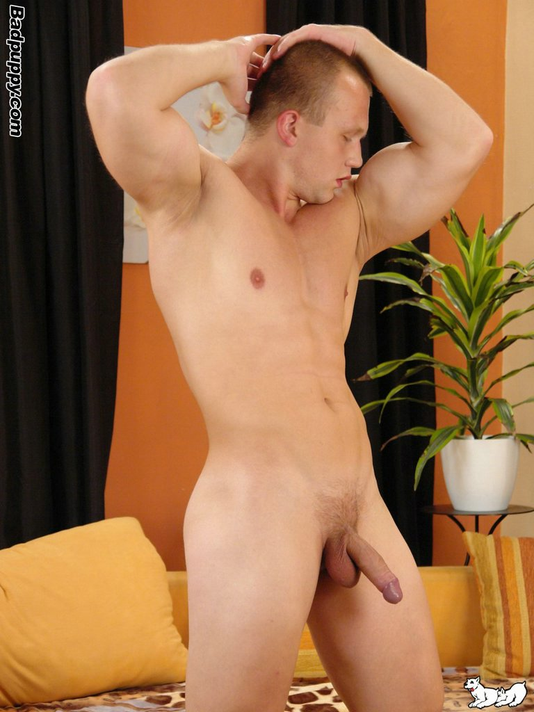 Badpuppy-Jindra-Hojer-uncut-cock-with-foreskin-pictures-18 Amateur Czech Bodybuilder Shoots a Big Load from his Uncut Cock