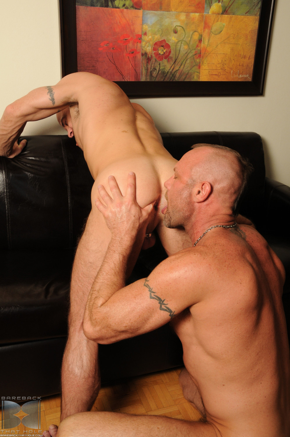 Bareback-That-Hole-Chad-Brock-and-Ben-Statham-big-uncut-cock-10 Hung Amateur Uncut Cock Bottom Takes a Huge Cock Up His Ass Raw