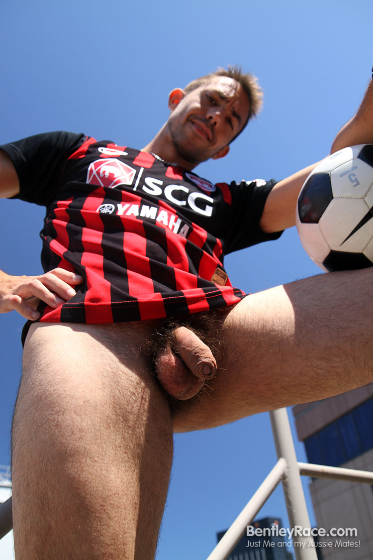 BentleyRace-GustavoDiaz-big-uncut-cock-14 Spanish Aussie Soccer Player with a Huge Uncut Cock