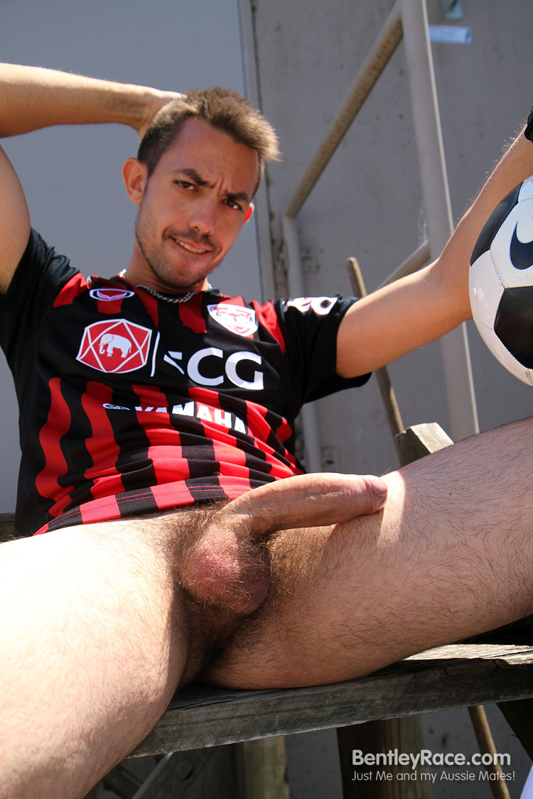 BentleyRace-GustavoDiaz-big-uncut-cock-15 Spanish Aussie Soccer Player with a Huge Uncut Cock