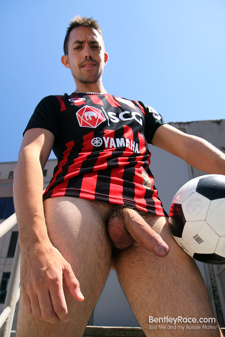 BentleyRace-GustavoDiaz-big-uncut-cock-16 Spanish Aussie Soccer Player with a Huge Uncut Cock