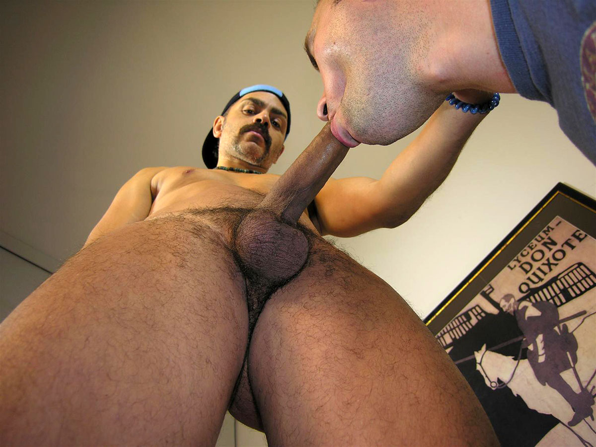 Amateur Straight Brazilian With Huge Uncut Cock Gets His First Gay