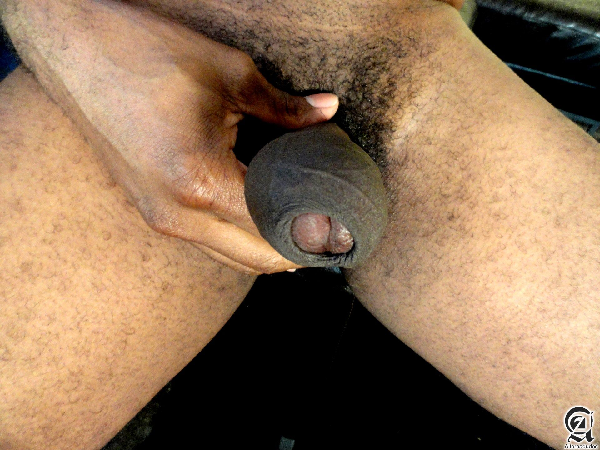 Alternadudes Kamrun big black uncut cock with cum 06 Sexy Amateur Black Hipster with a Huge Uncut Black Cock Shoots A Load