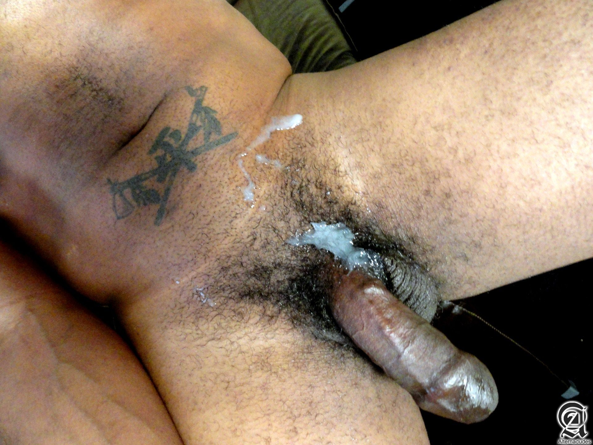 Alternadudes Kamrun big black uncut cock with cum 13 Sexy Amateur Black Hipster with a Huge Uncut Black Cock Shoots A Load