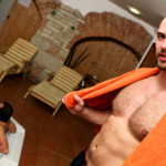 Big Daddy Tomm Out in Public Bareback Fucking at a Bath house 02 150x150 Hairy Muscle Tomm Finds a Young Stud At The Bath House To Bareback Him