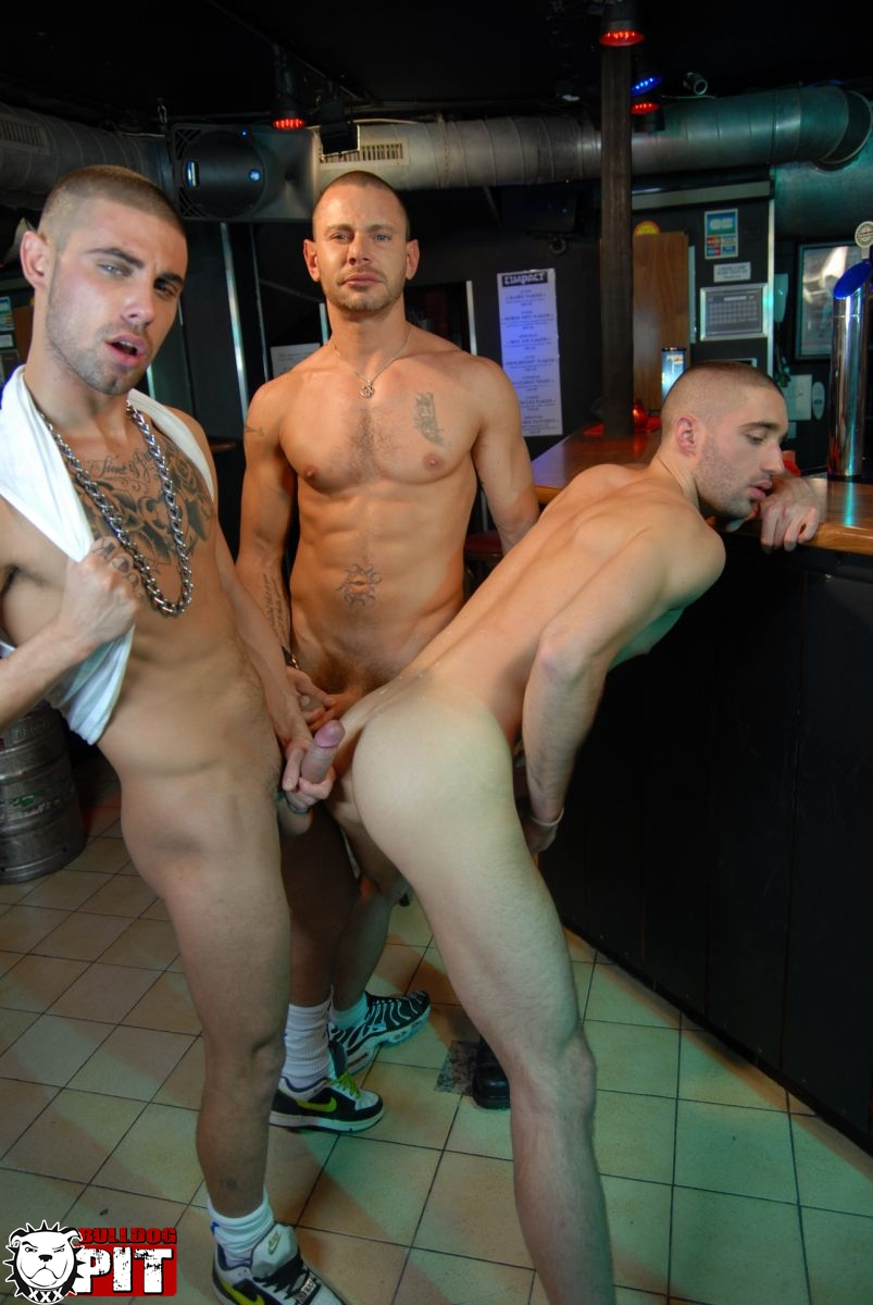 Bulldog-Pit-Greg-Adams-and-Brice-Farmer-and-Ivan-Rueda-threeway-amatuer-jock-fucking-big-uncut-cocks-07 Amateur Hunks With Big Uncut Cocks Caught Fucking in a Gay Bar