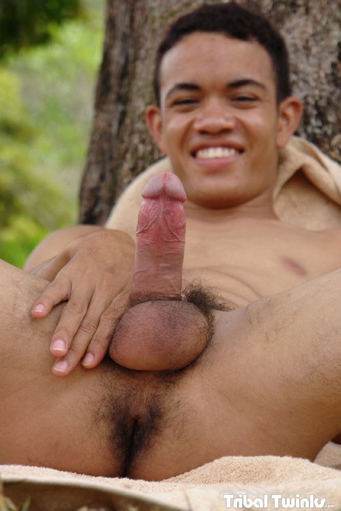 Tribal-Twinks-Armando-Twink-Black-Uncut-Cock-Jerk-Off-01 Tribal Twinks:  Amateur Armando Jerks His Thick Uncut Black Cock