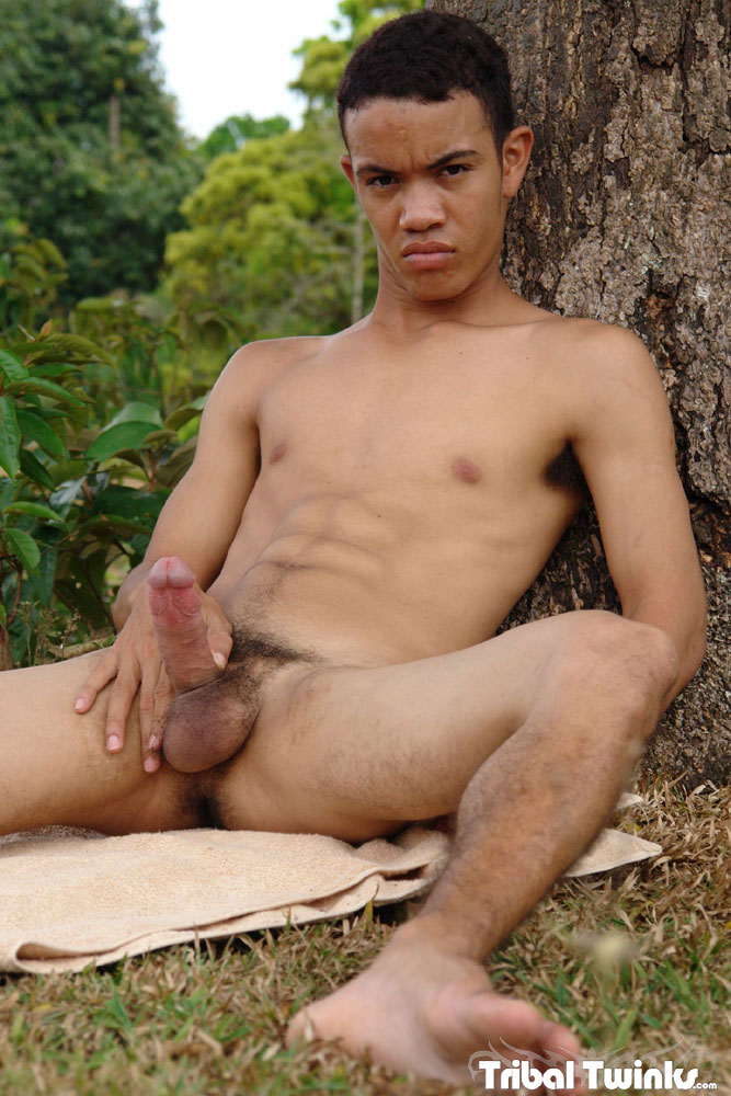 Tribal Twinks Armando Twink Black Uncut Cock Jerk Off 14 Tribal Twinks:  Amateur Armando Jerks His Thick Uncut Black Cock