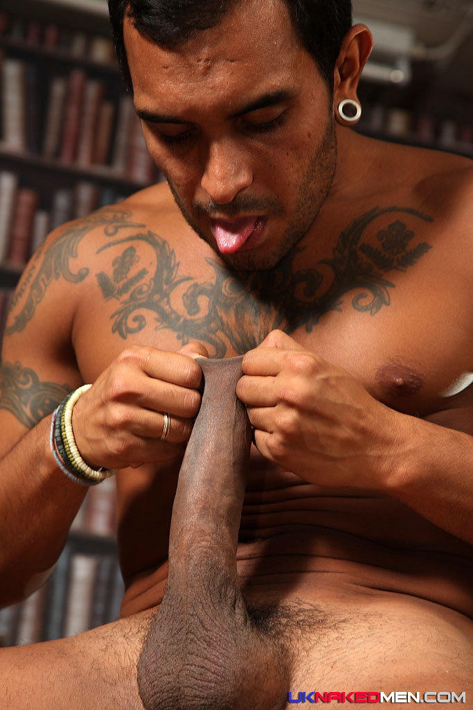 UK Naked Men Lucio Saints and Tyson Tyler Huge Uncut Cock Fucking 03 Lucio Saints Pounds A Tight Amateur Black Ass With His Huge Uncut Cock