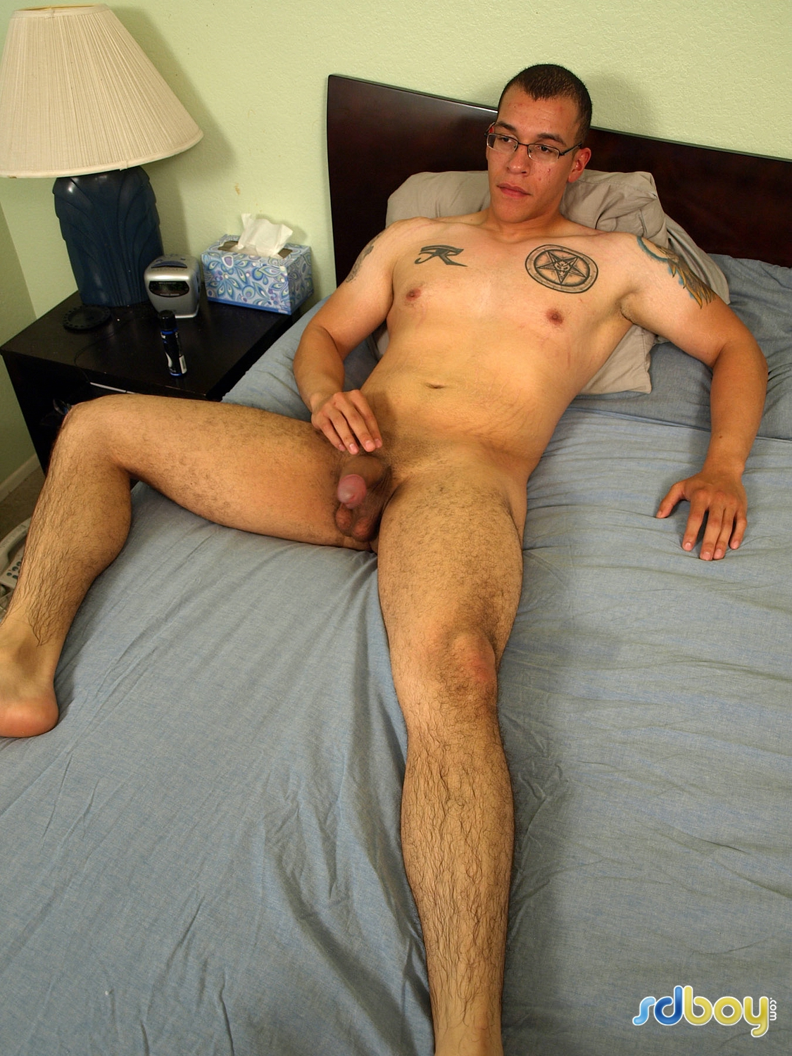 SD Boy Ray Sosa Big Uncut Cock Latino Marine Masturbating Amateur Gay Porn 07 Amateur Gay Latino Marine Shows His Tatts and Jerks His Uncut Cock