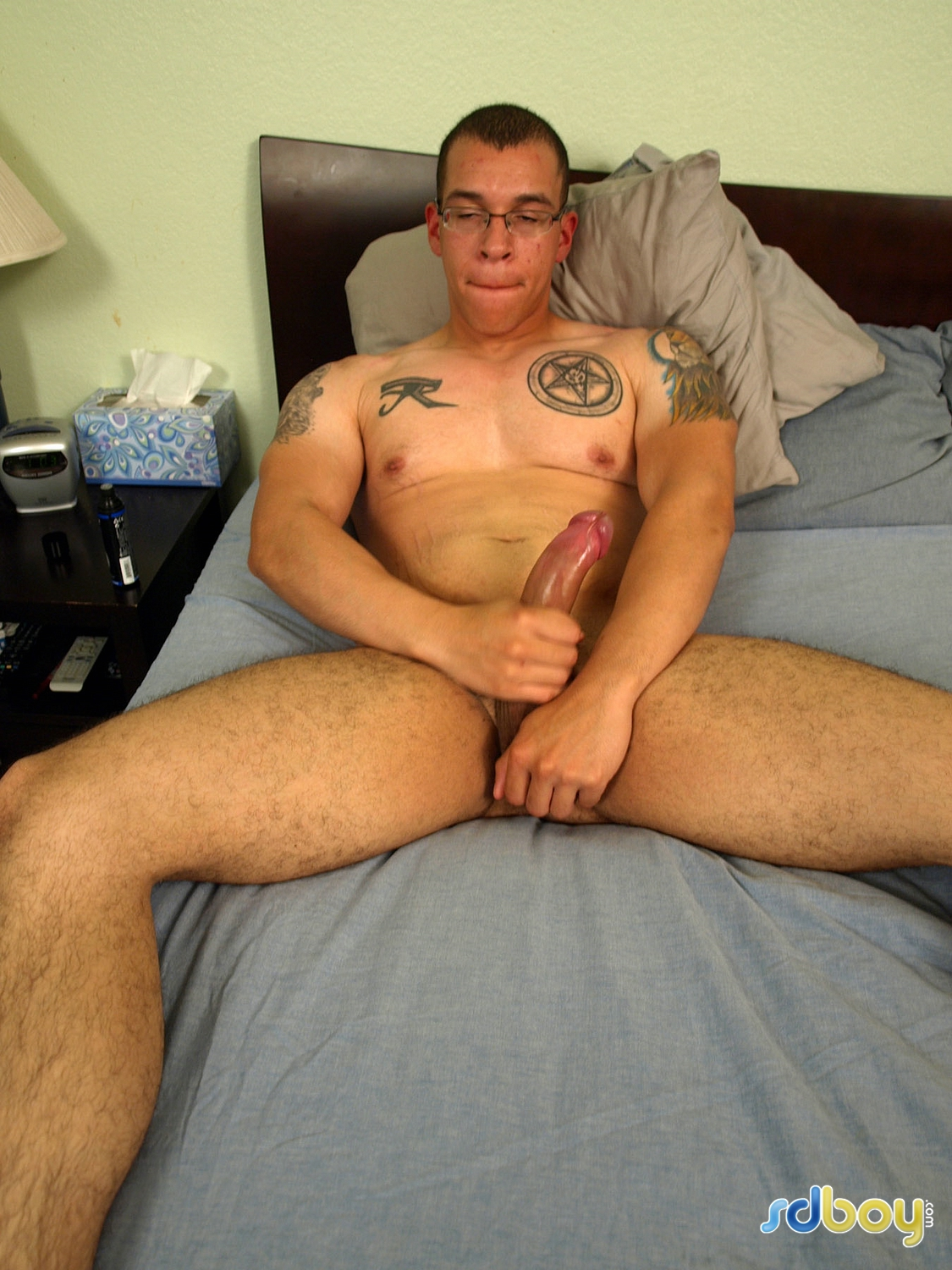 SD Boy Ray Sosa Big Uncut Cock Latino Marine Masturbating Amateur Gay Porn 09 Amateur Gay Latino Marine Shows His Tatts and Jerks His Uncut Cock