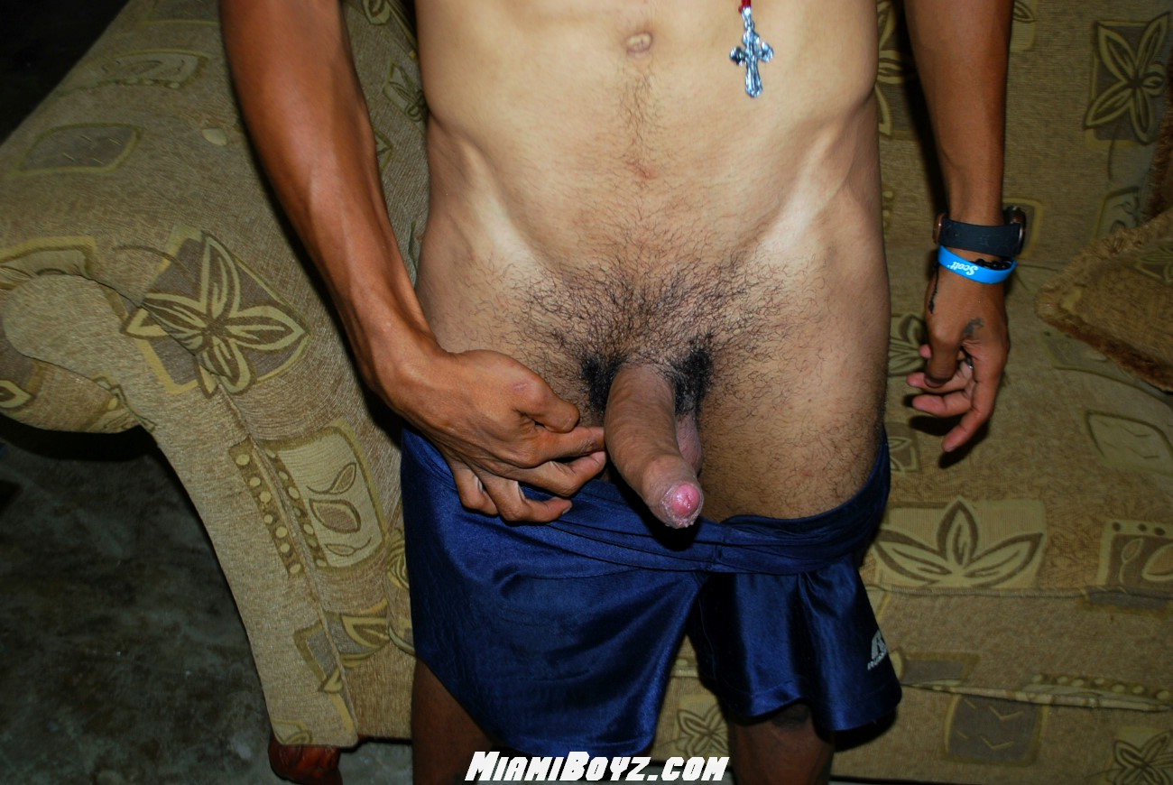 MiamiBoyz PABLO big uncut latino straight cock jerking off Amateur Gay Porn 40 Amateur Straight Latino Teen From Miami Jerks His Huge Uncut Cock