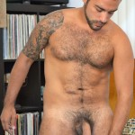 DOMINIC PACIFICO Nicko Morales Big Uncut Cock Masturbation Amateur Gay Porn 11 150x150 Amateur Straight Muscular Hairy Hunk With Huge Uncut Cock Jerks Out A Huge Cum Load