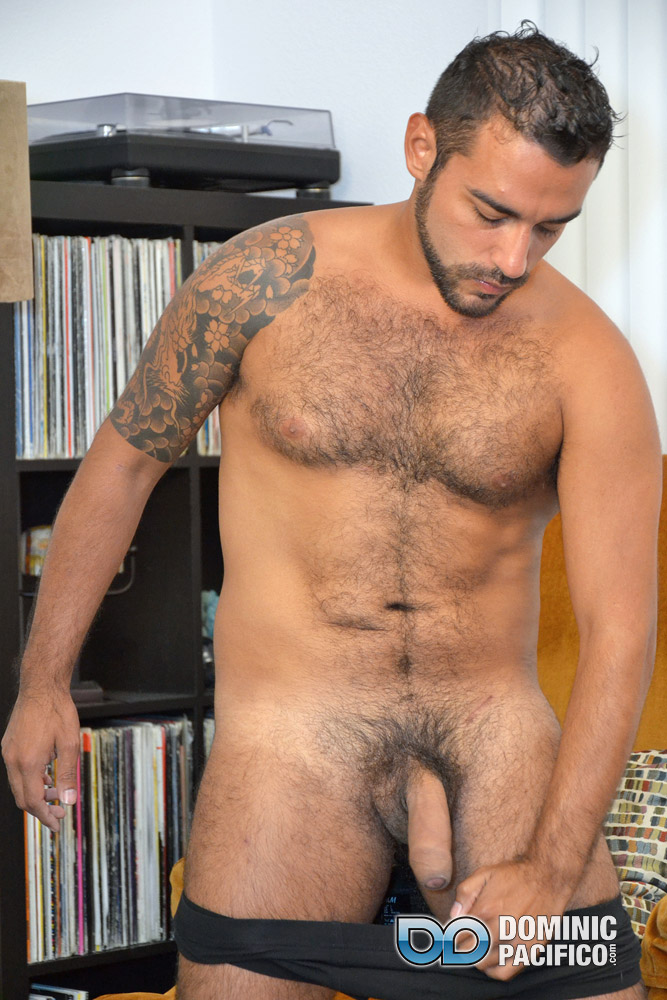 DOMINIC PACIFICO Nicko Morales Big Uncut Cock Masturbation Amateur Gay Porn 11 Amateur Straight Muscular Hairy Hunk With Huge Uncut Cock Jerks Out A Huge Cum Load