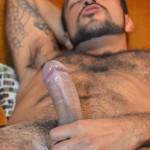 DOMINIC PACIFICO Nicko Morales Big Uncut Cock Masturbation Amateur Gay Porn 16 150x150 Amateur Straight Muscular Hairy Hunk With Huge Uncut Cock Jerks Out A Huge Cum Load