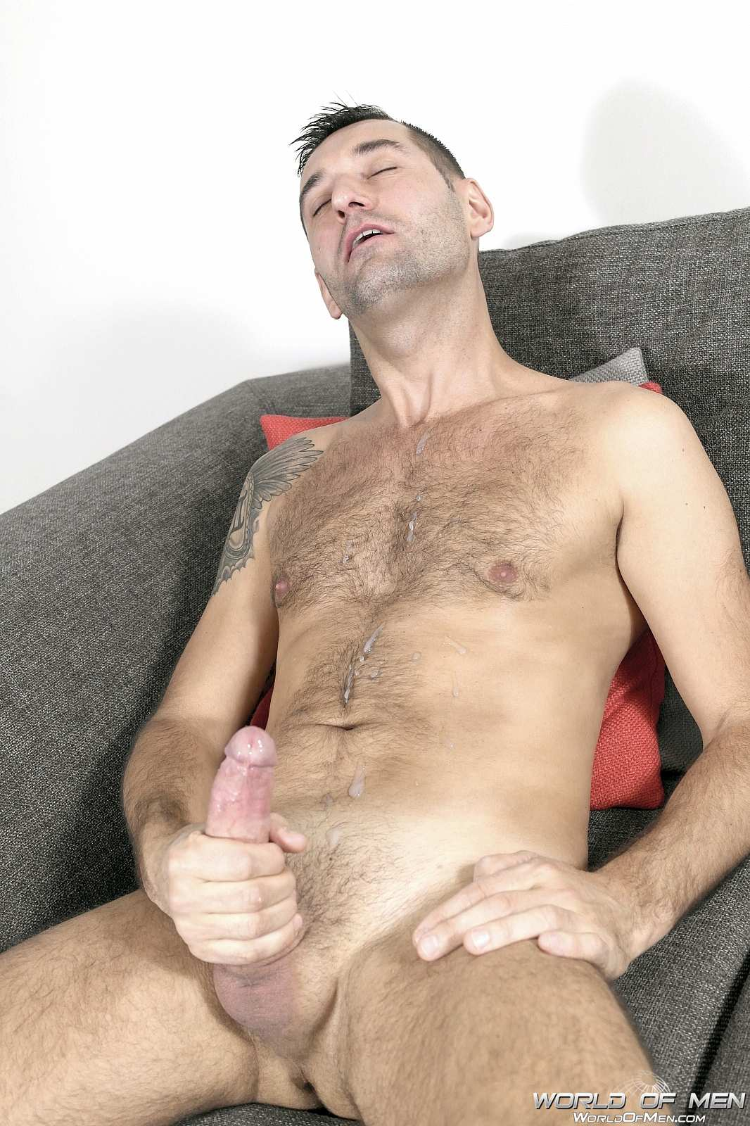 World Of Men Chris ADam Big Uncut Cock Jerk Off Masturbation Amateur Gay Porn 06 Hairy Sexy Stud Fingers His Ass And Plays With His Huge Uncut Cock