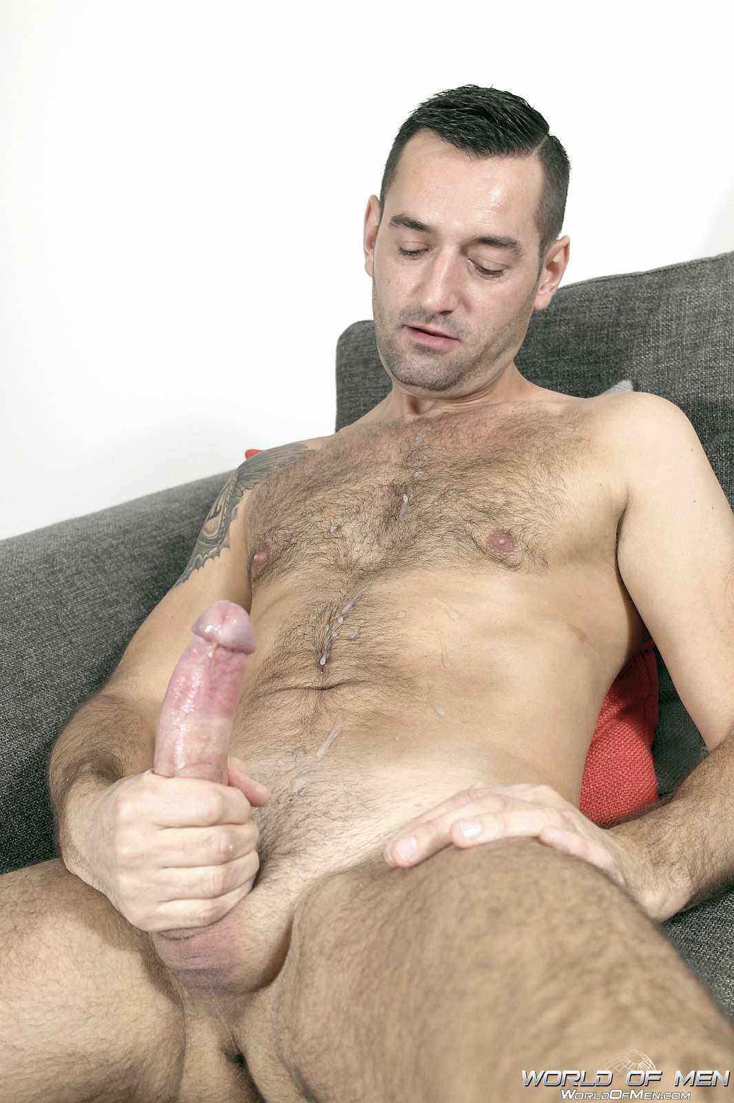 World Of Men Chris ADam Big Uncut Cock Jerk Off Masturbation Amateur Gay Porn 14 Hairy Sexy Stud Fingers His Ass And Plays With His Huge Uncut Cock