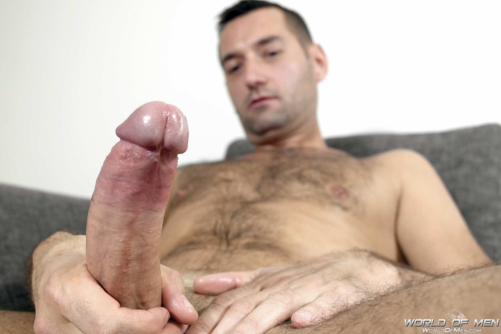 World Of Men Chris ADam Big Uncut Cock Jerk Off Masturbation Amateur Gay Porn 15 Hairy Sexy Stud Fingers His Ass And Plays With His Huge Uncut Cock