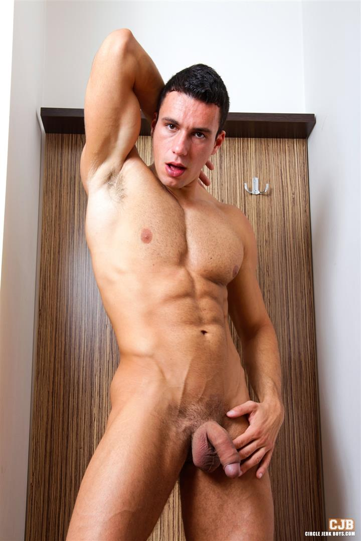 Circle-Jerk-Boys-Fernando-Torreta-Big-Latino-Uncut-Cock-Jerking-Off-Amateur-Gay-Porn-04 Amateur Muscle Latino Hunk Jerking Off His Big Uncut Cock
