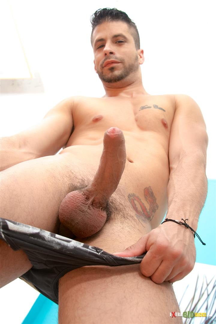 Extra Big Dicks Ray Han Cuban With Big Uncut Cock Masturbation Amateur Gay Porn 06 Sexy Muscular Cuban Ray Han Jerks His Big Uncut Cock