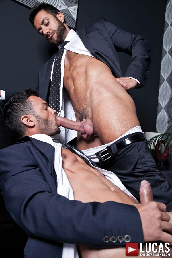Lucas Entertainment Adriano Carrasco and Valentino Medici Huge Uncut Cocks Men In Suits Fucking Amateur Gay Porn 04 Hunks In Business Suits With Big Uncut Cocks Fucking Hard