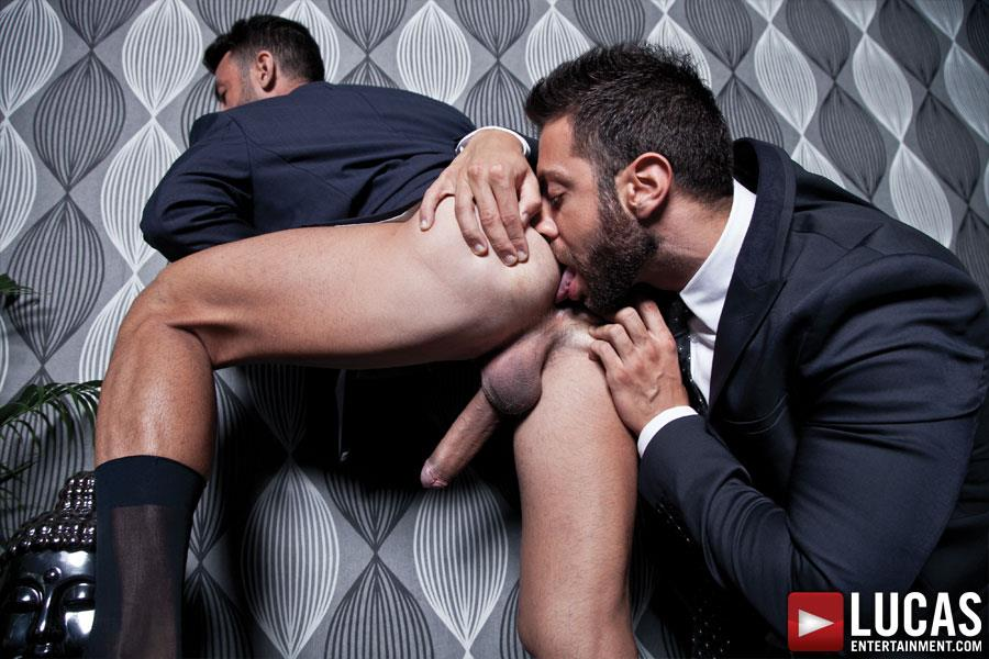 Lucas Entertainment Adriano Carrasco and Valentino Medici Huge Uncut Cocks Men In Suits Fucking Amateur Gay Porn 10 Hunks In Business Suits With Big Uncut Cocks Fucking Hard
