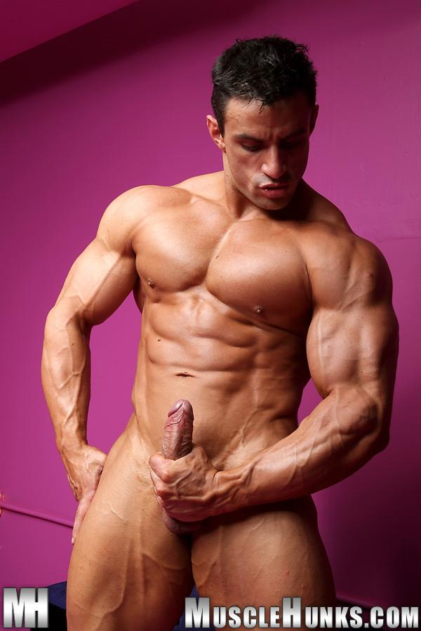 Muscle-Hunks-Macho-Nacho-Powerlifter-With-A-Big-Uncut-Cock-Amateur-Gay-Porn-12 Muscle Hunk Macho Nacho Playing With His Big Uncut Cock