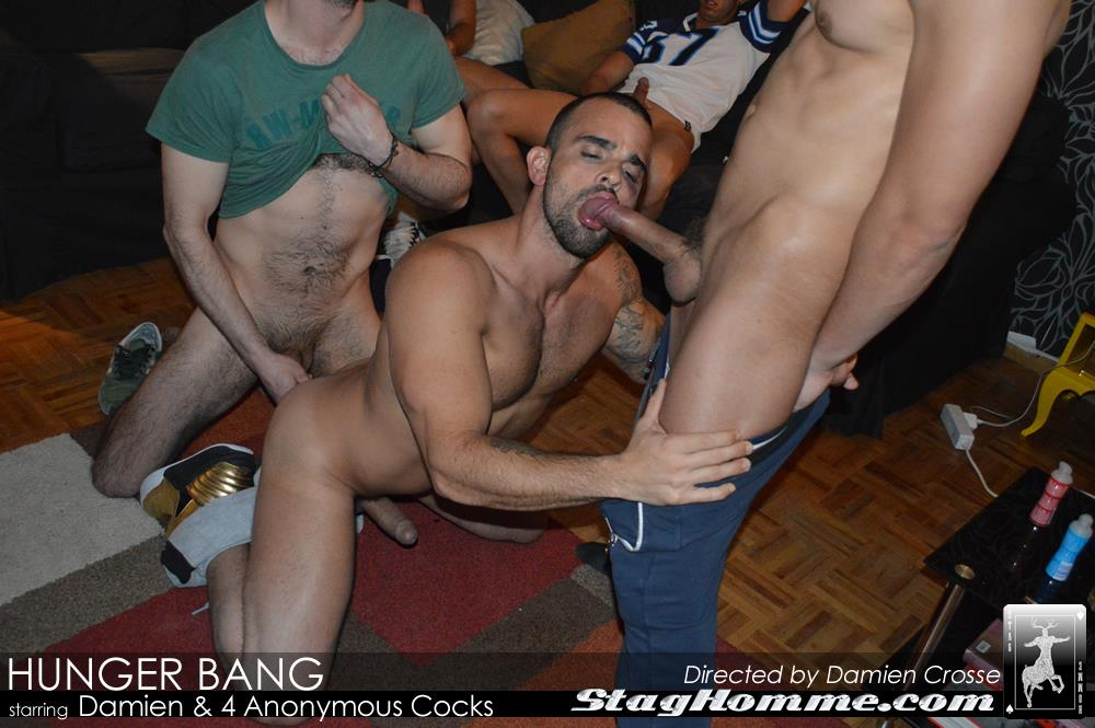 Stag Homme Damien Crosse Four Big Uncut Cocks Bukkake Amateur Gay Porn 12 Damien Crosse Gets A Bukkake From Four Anonymous Big Uncut Cocks