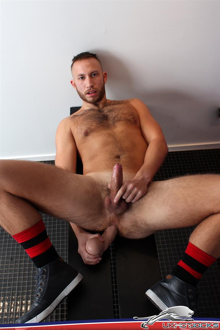 UK Hot Jocks Brent Taylor Hairy Muscle Jock With A Big Uncut Cock Jerking Off Amateur Gay Porn 10 UK Hairy Muscle Jock Brent Taylor Jerking His Big Uncut Cock