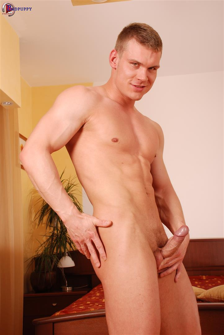 Bad Puppy Drago Lembeck Muscular Naked Czech Guy Jerking Big Uncut Cock Amateur Gay Porn 11 Muscular Czech Guy Jerking Off His Big Uncut Cock
