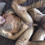 Raw Fuck Club Alessio Romero and Jon Galt and Vic Rocco Hairy Muscle Daddy Bareback Amateur Gay Porn 6 150x150 Hairy Muscle Daddy Threeway Double Bareback Penetration
