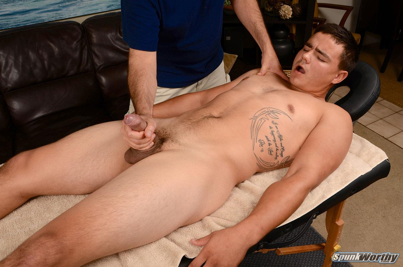 SpunkWorthy Yuri Straight Marine Getting Massage With A Happy Ending Big Uncut Cock Amateur Gay Porn 15 Straight Uncut Marine Gets A Massage With A Happy Ending From A Guy