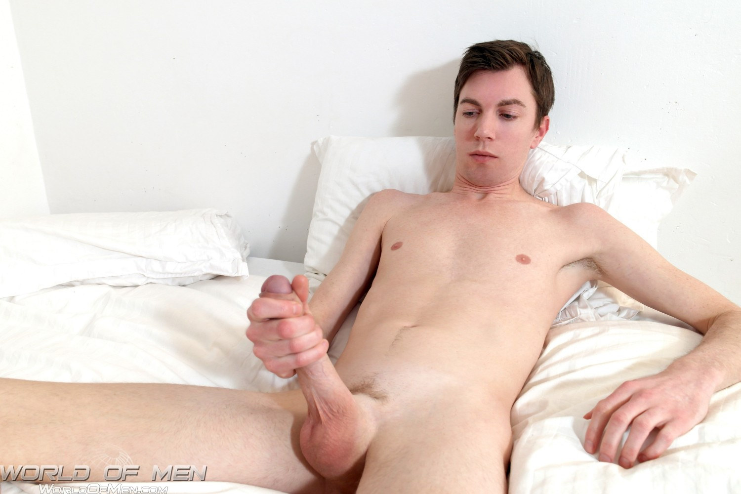 World of Men Bjorn Swedish Twink With A Big Uncut Cock Amateur Gay Porn 09 Swedish Twink Fingers His Ass And Jerks His Big Uncut Cock