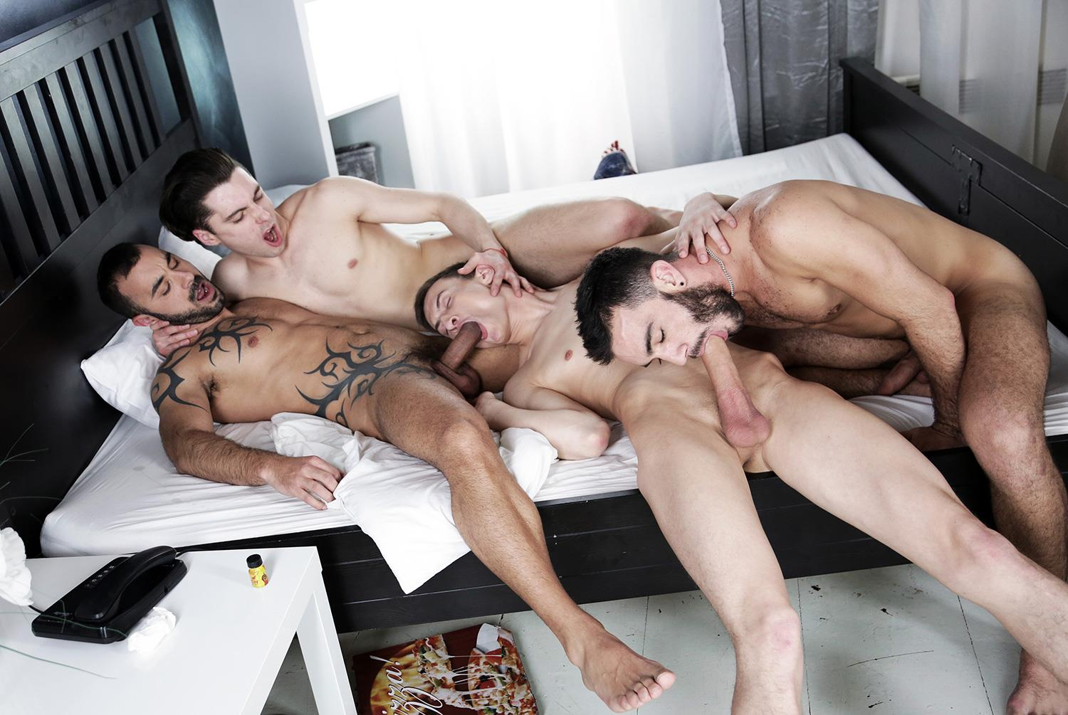 Staxus Alejandro Alvarez and Jace Reed and Johny Cruz and Xavi Duran Triple Penetration Bareback Amateur Gay Porn 08 Twink Johny Cruz Gets Triple Penetrated Bareback With 3 Big Uncut Cocks