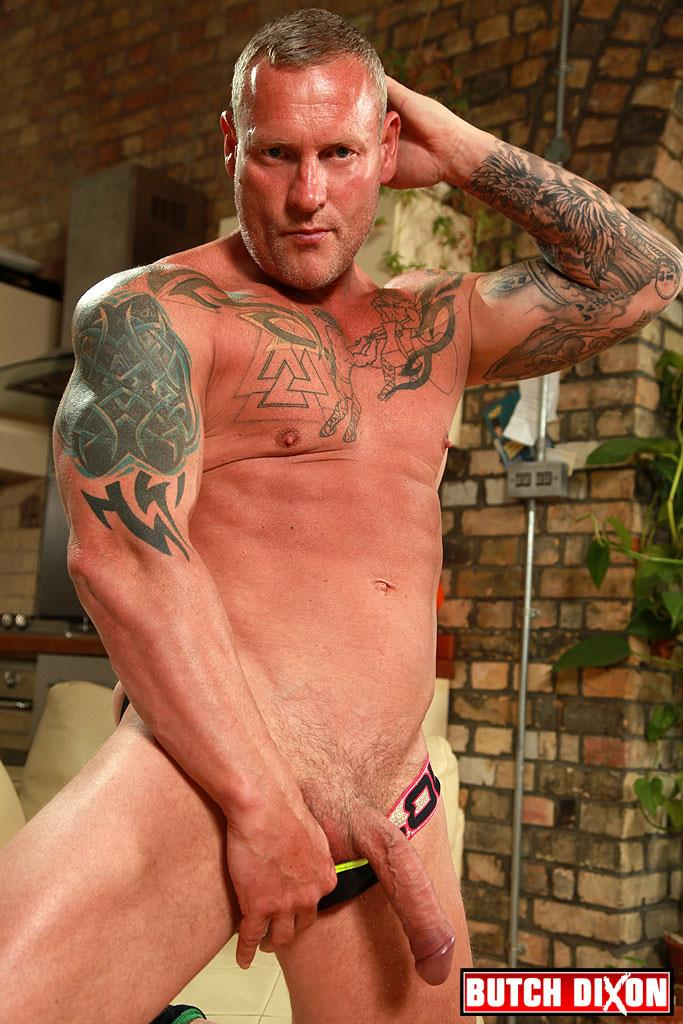 Butch Dixon Big T British Muscle Daddy With A Big Uncut Cock Amateur Gay Porn 10 British Muscle Daddy Jerking Off His Big 9