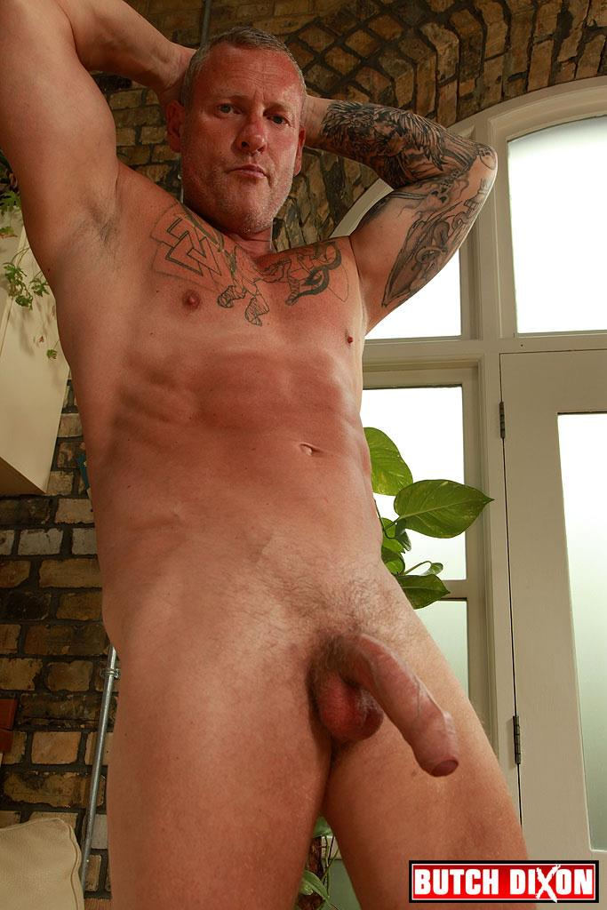 Butch Dixon Big T British Muscle Daddy With A Big Uncut Cock Amateur Gay Porn 22 British Muscle Daddy Jerking Off His Big 9