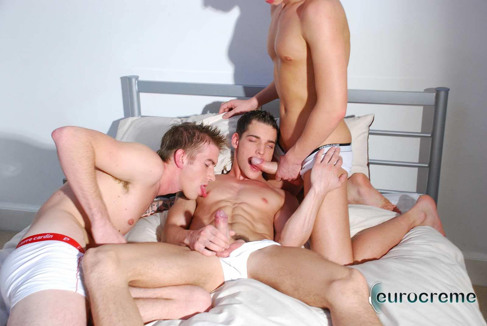 Eurocreme Matt Hughes and Alex Stevens and Philipe Delvaux Twinks Fucking Amateur Gay Porn 06 Matt Hughes Uses His 11 Inch Uncut Cock On Two Tricks