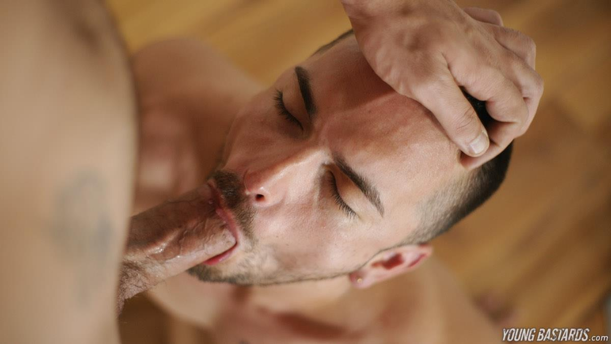 Young Bastards Abraham Montenegro and Jean Favre Big Uncut Cock 26 Getting A Face Full Of Cum From A Thick Uncut Cock