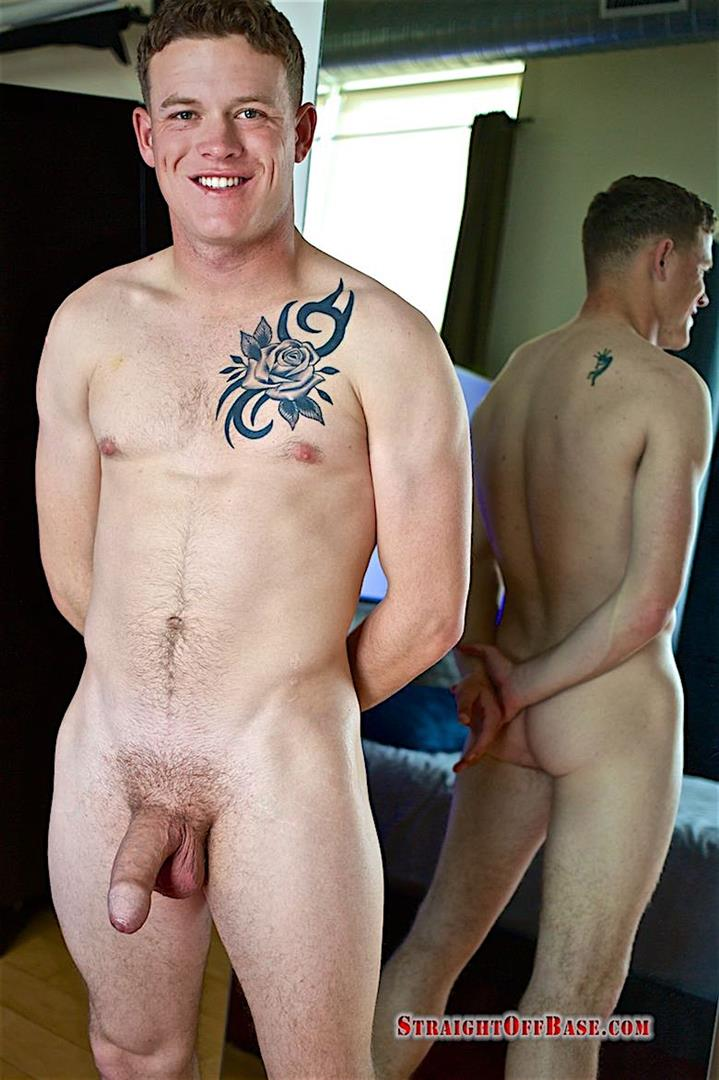 Straight-Off-Base-Aamon-Naked-Marine-With-A-Big-Uncut-Cock-20 Irish-American US Marine Naked And Stroking His Big Uncut Cock